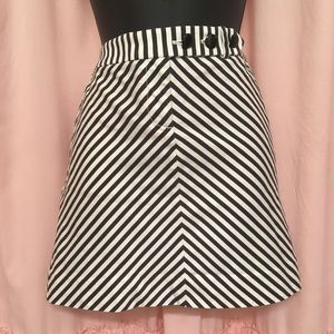 J Crew striped skirt with pockets! size 2